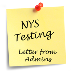 New York State Testing Letter