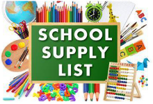 2019-2020 Supply Lists