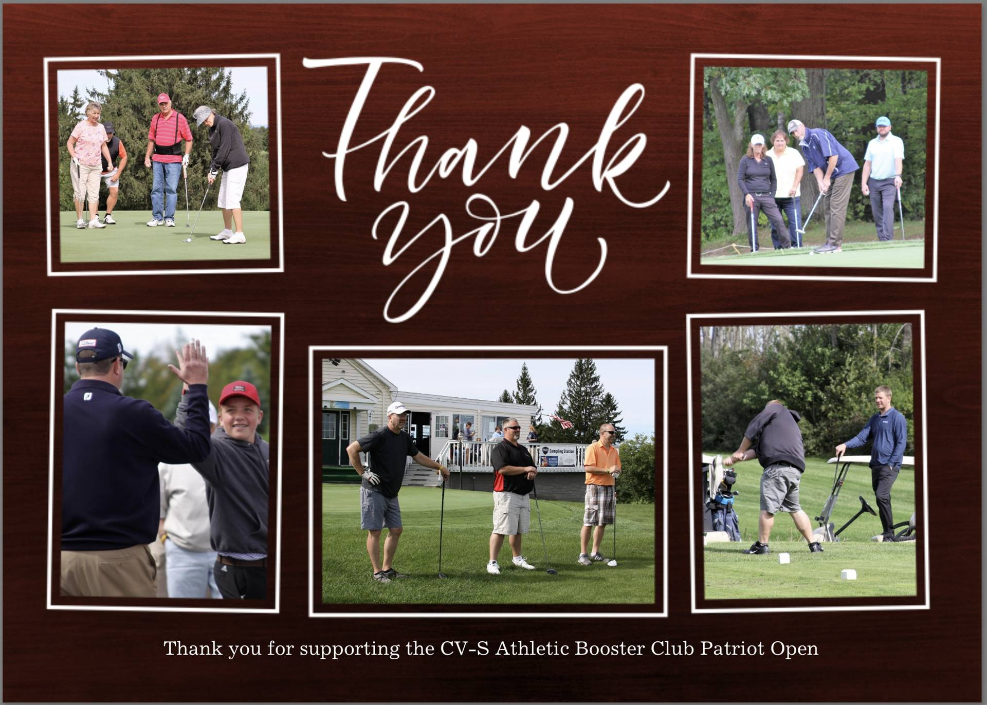 Patriot Open Thank you