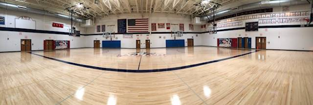 HS gym panoramic view