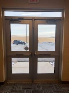 high school exterior door