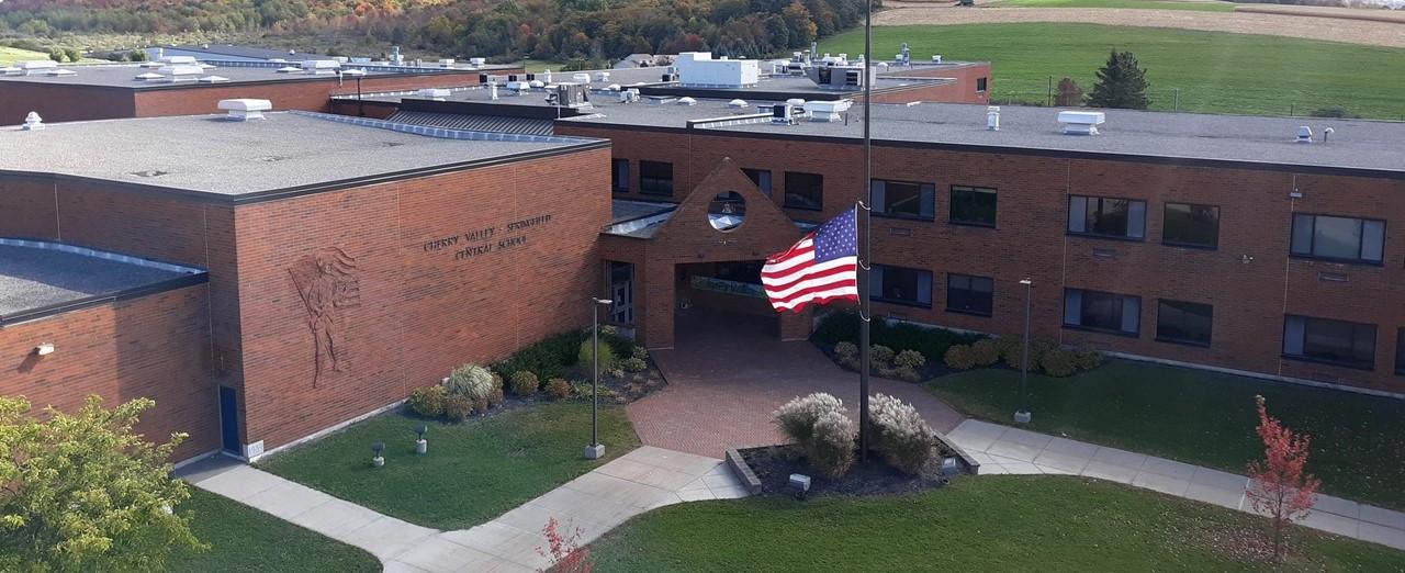 Ariel view of school