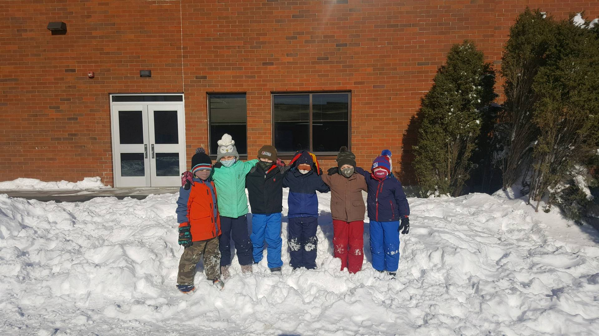 1st Graders in Snow