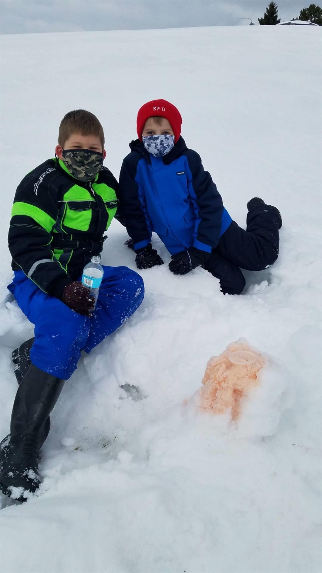 5th Grade Snow Volcanos